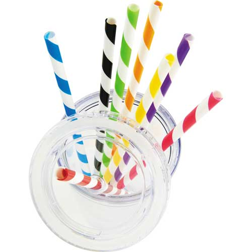 Sedici Striped Straws