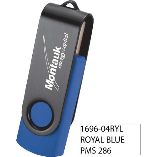 Rotate Black Clip Flash Drive 4GB