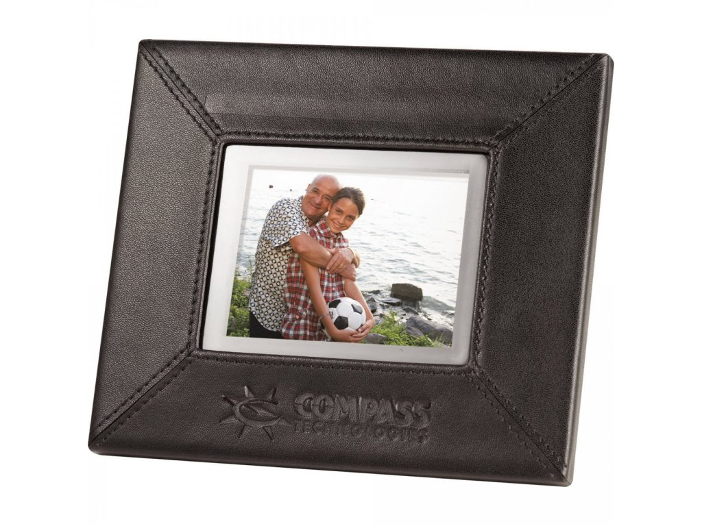 """3.5"""" Leather Digital Photo Frame"""